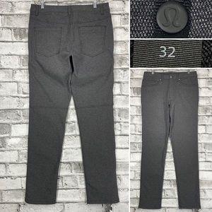Lululemon ABC Pant Mens Size 32 x 34 Classic Gray Flat Front Comfort Dress Pants